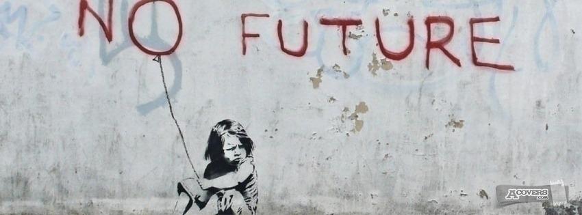"""Banksy """"no future"""""""